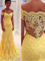 yellow wedding dress buy mermaid the shouler sweep side zipper yellow tulle