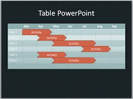 create a table chart free a basic timeline in powerpoint using shapes and tables
