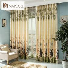 Jungle Blackout Curtains Jungle Animal Print Voile Aliexpress 4 32 Room Decor