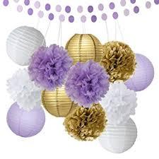 lavender baby shower decorations bridal shower decorations 14pcs white purple gold