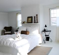 master bedroom and bathroom freshly painted gray owl paint picking