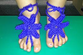 starfish barefoot sandals free crochet pattern baby starfish barefoot sandals