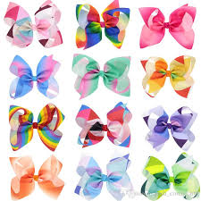hair bows rainbow jojo bows for mix colors hair bows for children