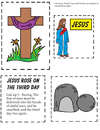 toddler preschool easter bible craft salvation storyboard simple