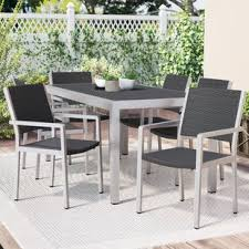 Patio Dining Set With Bench Modern Outdoor Dining Sets Allmodern