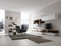 Wall Tv Cabinet Design Italian Presotto Base And Wall Units In Bianco Candido Color Wood