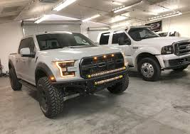 ford raptor 2017 ford raptor front bumper led bar the fast lane truck