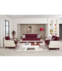 3 Pc Living Room Set 3 Pc Living Room Set By Almira Collection Burgundy Us