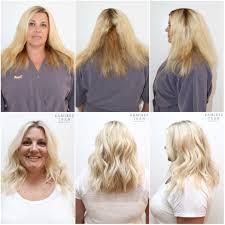 la hair extensions all done in one day the salon in la ramirez salon