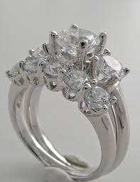 three ring wedding set spectacular three engagement ring wedding set