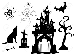 graveyard entrance silhouette clipart collection