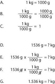 how to cancel units chemistry metric conversions