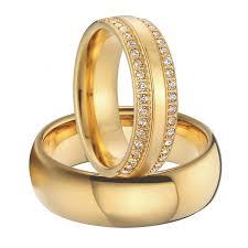 couples wedding rings luxury cubic zirconia alliances gold colour titanium steel jewelry