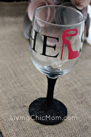 his hers wine glasses diy his hers glitter stem wine glasses silhouette project