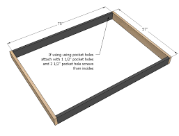 Measurement Of A Full Size Bed Ana White Hailey Platform Bed Diy Projects