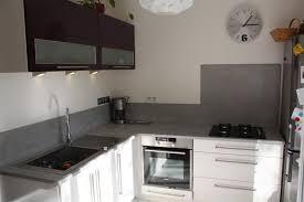 plan de travail cuisine effet beton plan travail cuisine beton cire cuisine avec plan de travail en