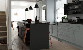 framed kitchen in gull wing and raven showing sink under a lower