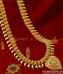 fashion jewelry gold necklace images Arrg146 queen of necklace traditional maango haaram net design jpg