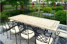stone patio table top replacement stone patio table stone patio table and resin wicker outdoor dining