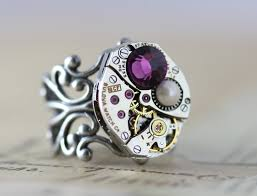 grandmother birthstone jewelry mothers ring birthstone ring custom made steunk barrel
