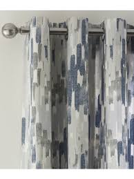 Navy And Grey Curtains Eyelet Curtains Ponden Home