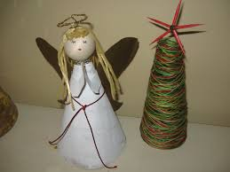 angel tree topper out of recycled materials craft tutorial youtube