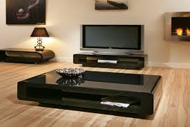 Black Living Room Tables Furniture Simple Modern Black Glass Coffee Table Designsm For