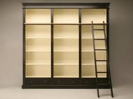 phenomenal black over cream painted library style bookcase with