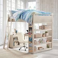 Loft Bed With Desk For Teenagers Teen Loft Beds U0026 Bunk Beds Pbteen
