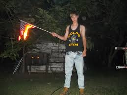 Burning A Flag Pictures Released Of Dylann Roof Burning American Flag