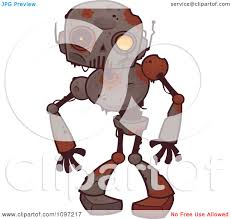 creepy clipart clipart creepy zombie robot royalty free vector illustration by