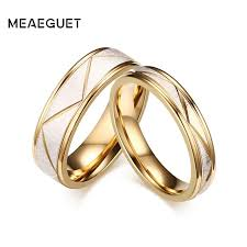 gold bands rings images Meaeguet wedding ring couples matching rings lovers gold color jpg