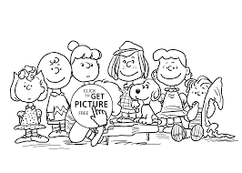 charlie brown and friends coloring pages for kids printable free