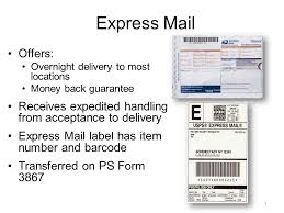 express mail offers overnight delivery to most locations money