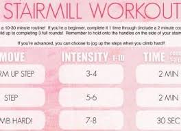stairmill workout tone it up u2013 berry blog