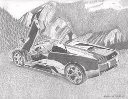draw lamborghini murcielago lamborghini murcielago roadster car print drawing by