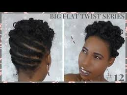 updo hairstyles with big twist big flat twist series 12 updo with flexi rods natural hair