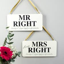 mr and mrs wedding signs personalised mr mrs wedding signs delightful living