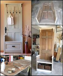 how to build an entry bench from an old door http