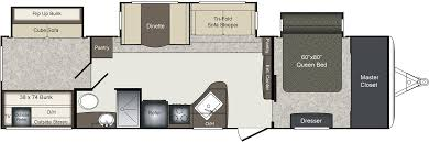 Keystone Trailers Floor Plans by 2018 Keystone Laredo 333bh Model