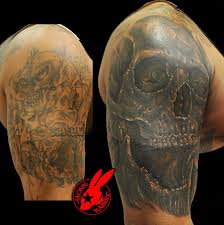 skull sleeve cover up by jackie rabbit by jackierabbit12 on