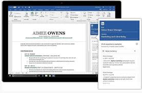microsoft office 365 users to get linkedin powered resume