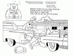 idaho police road safety coloring