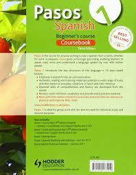 pasos 1 spanish beginner u0027s course coursebook pasos a first