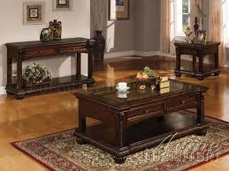 Living Room Coffee And End Tables Rich Cherry Finish Classic Coffee Table W Options