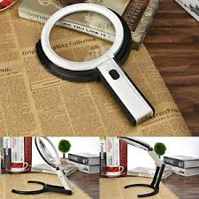 large magnifying glass with light 5x large magnifying glass with light led lamp magnifier foldable