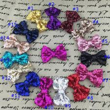 wholesale hairbows wholesale 3 sequin hairbows with alligator clip for baby girl hair