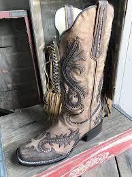corral g1348 ld tan overlay u0026 studs sq toe ladies boot u2013 52 west