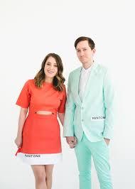 Couples Costume Diy Pantone Color Combo Couples Costume Sugar U0026 Cloth