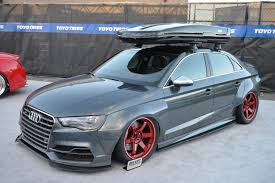 slammed audi a3 audi s3 sedan widebody and slammed e golf revealed by allroad